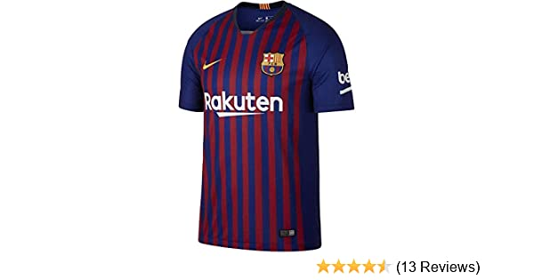 69a56441662 Amazon.com : Nike 2018 2019 FC Barcelona Stadium Home Soccer Jersey :  Clothing