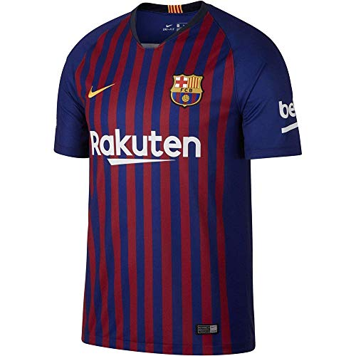 Nike Men's Fc Barcelona Stadium Short Sleeve HM T-Shirt, Small' Deep Royal Blue/University GOL,