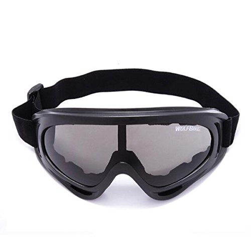 Tinksky Ski Goggles-WOLFBIKE UV400 Protective Safety Goggles Glasses for Men Women Outdoor Snowmobile Skiing Cycling (Black)