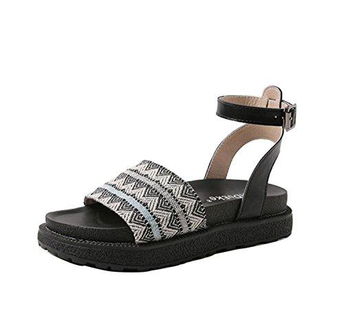 Sandalo delle Nero 43 Sandalo Dimensioni DANDANJIE Suola Nero Donne Sandalo 43   0b5d33