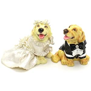 Amazon.com: Golden Retriever Dog Wedding Cake Toppers ...
