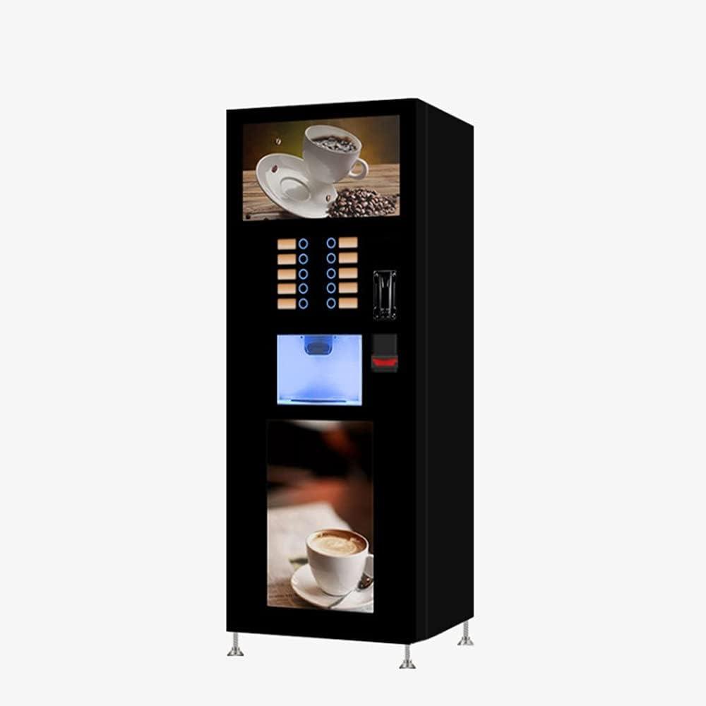 Yifuty Máquina de café de Mano Cafetera de autoservicio instantáneo, máquina de café con Leche, máquina expendedora de autoservicio de jugos, Apta para hoteles, oficinas, cines o supermercados