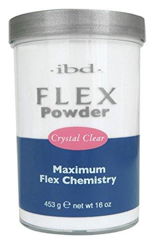 IBD Flex 71830 Crystal Clear Powder, 16 Ounce ()