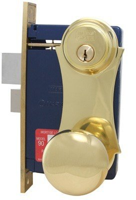 MARKS LOCK 21 BRASS SERIES UNILOCK 21AC MORTISE LOCK FOR SECURITY DOOR AND STORM DOOR (RIGHT HANDED)
