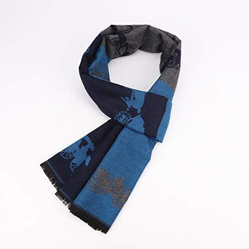 HVTKL - Bufanda para Hombre (algodón Jacquard, Cuello cálido), algodón, 30WAZ9-26, 180 cm: Amazon.es: Hogar