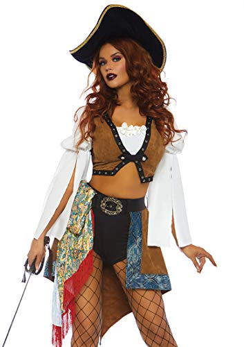 Leg Avenue Womens Swashbuckling Siren Pirate Costume, Multi, Medium -