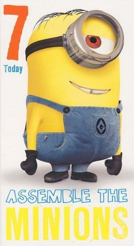 Despicable Me 2 Age 7 Birthday Card