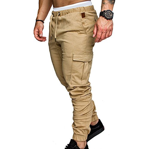 A Pantaloni Tooling Uomo Cachi Oneforus Da In Multi Casual pocket Tessuto 2018 Tunica OnUUvqxH
