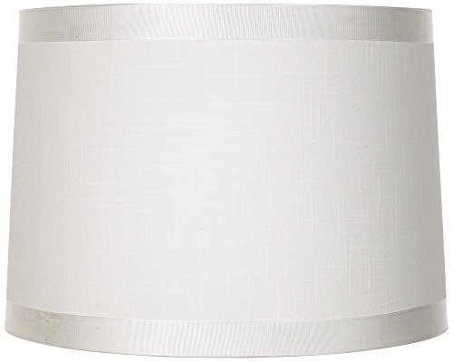 Brentwood White Fabric Drum Shade 13x14x10 (Spider)