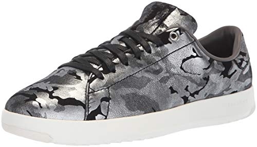 Cole Haan Women's Grandpro Tennis Sneaker, Black with CH Argento CAMO Leather, 10 B US (Cole Haan Camo)