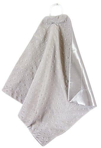 (Stephan Baby Satin-Trimmed Embossed Velvet Fleece Security Blanket, Grey)