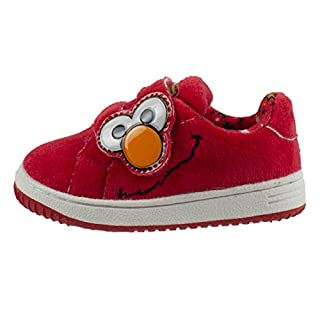Sesame Street Elmo Baby Toddler Shoes with Strap, Red, Toddler Size 7