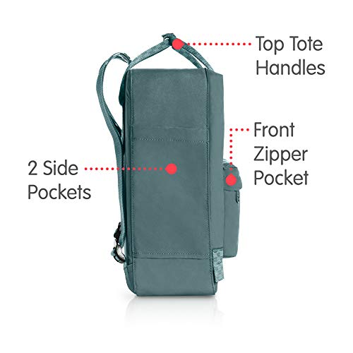 Fjallraven - Kanken Classic Backpack for Everyday, Frost Green-Chess Pattern by Fjallraven (Image #4)