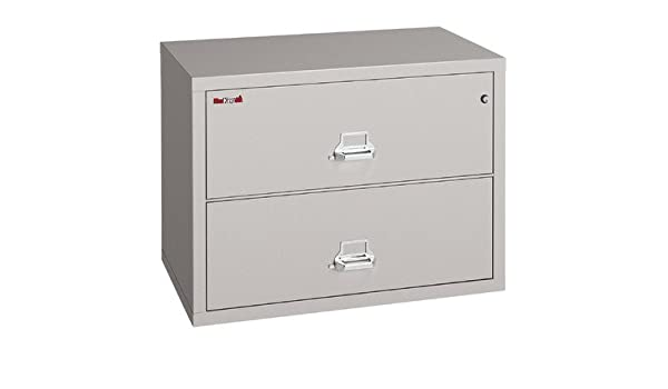 Amazon.com : Fireproof 2-Drawer Lateral File Finish: Platinum, Lock: Key  Lock : Lateral File Cabinets : Office Products