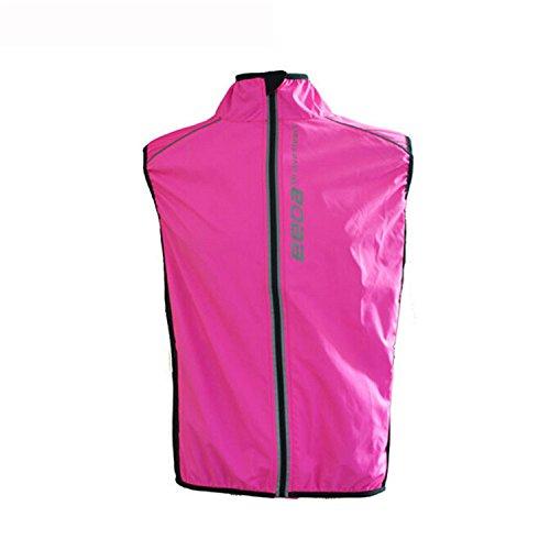 West Biking Women Windproof Fleece Thermal Reflective Breathable Bike Bicycle Jersey Cycling Cycle Sleeveless Wind Coat Windcoat Jacket Vest-Rose Red,Green