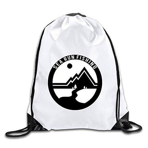 BENZIMM Sea Run Fishing Drawstring Backpacks/Bags -