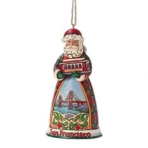 Enesco Jim Shore Heartwood Creek San Francisco Santa Ornament, 4-1/2-Inch