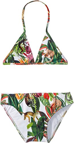 OSCAR DE LA RENTA Childrenswear Baby Girl's Jungle Monkeys Bikini (Toddler/Little Kids/Big Kids) Jungle Green 14 by OSCAR DE LA RENTA