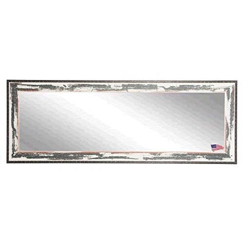 Rayne Mirrors DV040XL American Made Rustic Seaside Double Vanity Wall Mirror, Ivory/Black (Seaside Mirror)