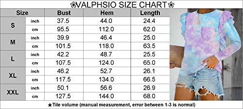 Valphsio Womens Long Sleeve Henley Shirts 1/4 Button Ruffle Tops with Pocket (X-Large, Z-Pink)