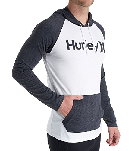 Only Raglan Jersey Hoodie White Medium (Hurley White Sweatshirt)