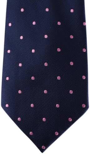 Navy/Pink Polka Dot Tie by David Van Hagen