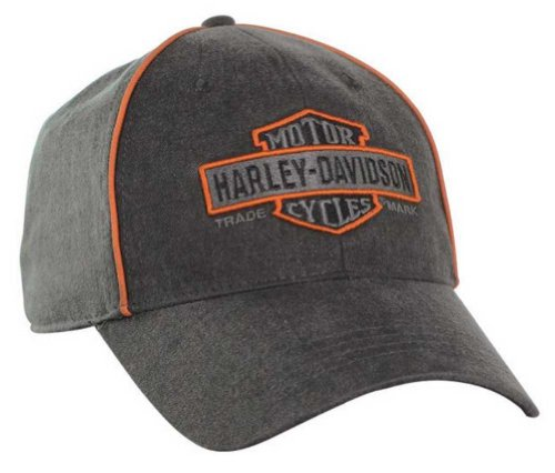 Harley-Davidson Men's Nostalgic Bar & Shield Baseball Cap BC31380 Black (Harley Ball Cap)