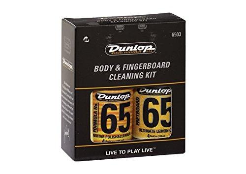 LIMPIADOR Y LUBRICANTE GUITARRA - Dunlop (6503) Guitar Body & Fingerboard Kit (6554 + 654 + 2 Gamuzas)