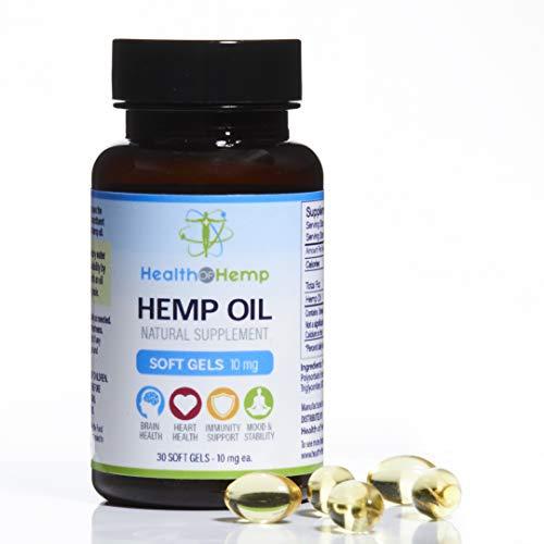 Capsules 10 Mg 300 (Health of Hemp 10mg Hemp Oil Capsules - 30 Pieces Healthy Gel Cap Supplement: 300mg)