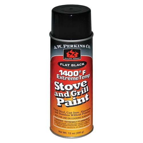 AW Perkins 90AW 1400ºF Stove Paint Spray - Black from AW Perkins