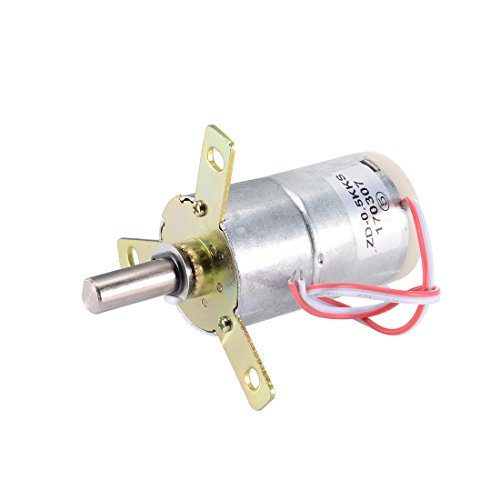 Uxcell a17030600ux1063 High Torque 0.5K DC 12V 25 RPM Gear Box Stabilivolt Electric Motor Replacement