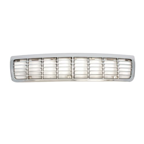 CarPartsDepot 400-15729, Grill Grille Chrome Plated Plastic Painted Silver Insert W/O Ltz GM1200113 10220509