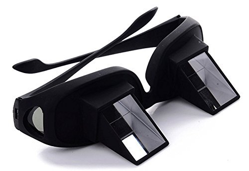 Horizontal High Definition Lazy Glasses Lying Down Bed Reading Watching Prism Glasses Refraction Eye Glasses with 90 °Angle or Bed Prism Spectacles Lazy Reders Great Gift for Friends (Black)
