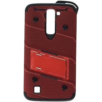 LG K7 Case, Zizo [Bolt Series] w/ FREE [LG K7 Screen Protector] Kickstand [12 ft. Military Grade Drop Tested] Holster Belt Clip- LG K8 / Tribute 5