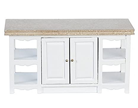 Amazon Com Melody Jane Dollhouse White Kitchen Island Unit