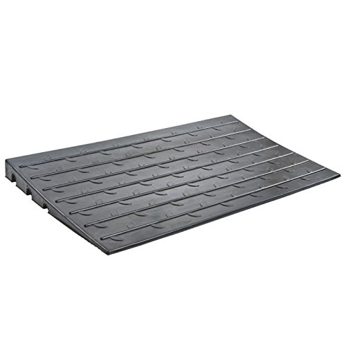 "Silver Spring 2-1/2"" High 3-Channel Rubber Threshold Ramp"
