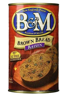 B&M Original Brown Bread in Can: Raisin (16 oz Cans) (4 pack) (Brown Bread In A Can)