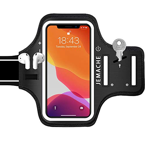 iPhone 12, 12 Pro, 11 Pro, X, XS Armband, JEMACHE Gym Hardlopen Workouts Arm Band Case voor iPhone X, XS, 11 Pro, 12, 12…