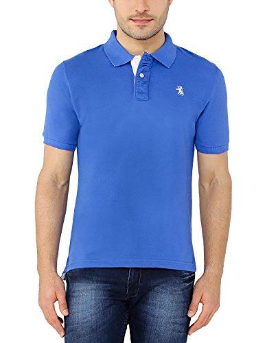 The Cotton Company Men's Luxury Polo T Shirt – Blue