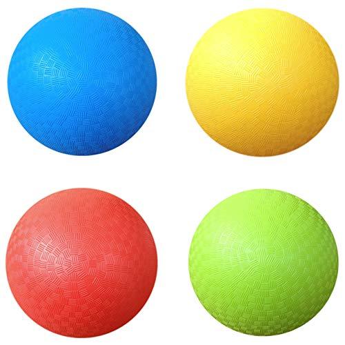AppleRound 8.5 Inch Playground Balls (Set of 4) with 1 Hand Pump from AppleRound