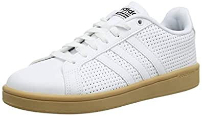 adidas Men's CF Advantage Shoes, Footwear White/Footwear White/Core Black, 7.5 US (7.5 AU)