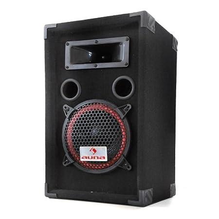 Malone PA-220-P • Par de altavoces PA • Par de altavoces • Altavoces de 3 vías • máx 2x 500 W • Subwoofer 20 cm • Twitter • 50 Hz-20kHz • Terminales ...