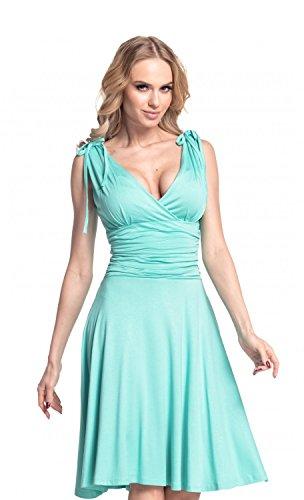 Glamour Empire. Mujer. Vestido de tirantes Jersey anudado correas. 142 Menta