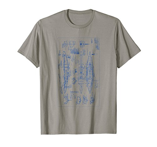 Sailboat Blueprint Tees: Vintage Boat Design T-Shirt