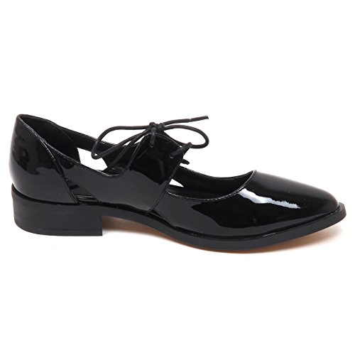 E0148 Woman Nero Nero Donna Without Smith Box Windsor Shoe Scarpa Patent Napa Cq5ST