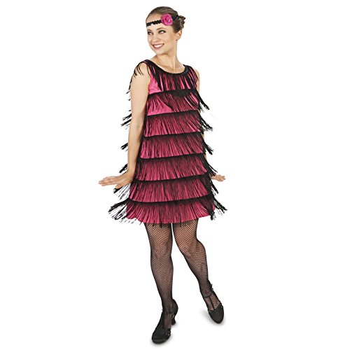 [20's Pink Flapper Adult Costume L] (1920s Halloween)