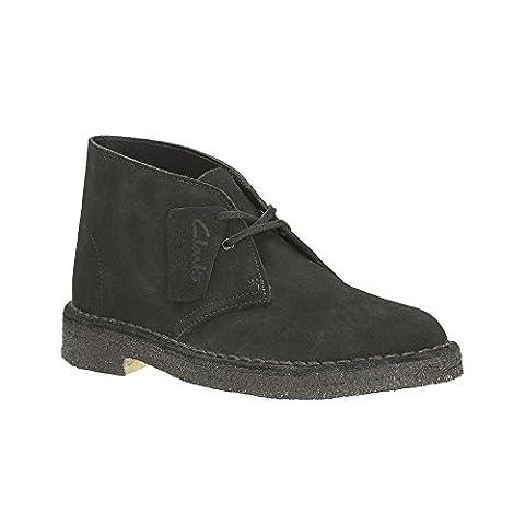 Clarks Originals Desert Boot Womens - Black Womens Boots 8 (Clarks Womens Desert Boot)