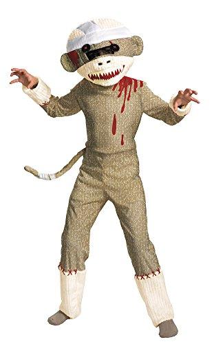 Zombie Sock Monkey Costume - Large