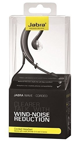 (Jabra WAVE Corded Headset- Black [Retail)