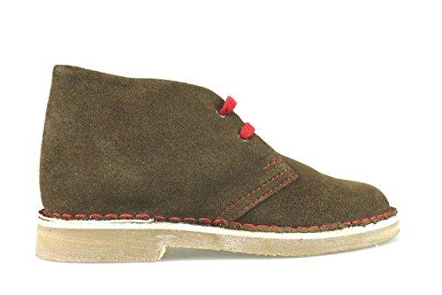 KTL BY CORAF - Zapatos de cordones de ante para mujer marrón